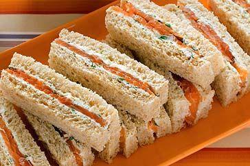 Smoked salmon finger sandwich recipe