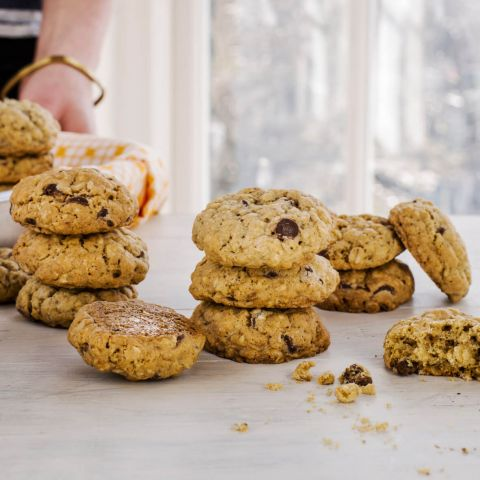 Oaty chocolate chip cookie recipe