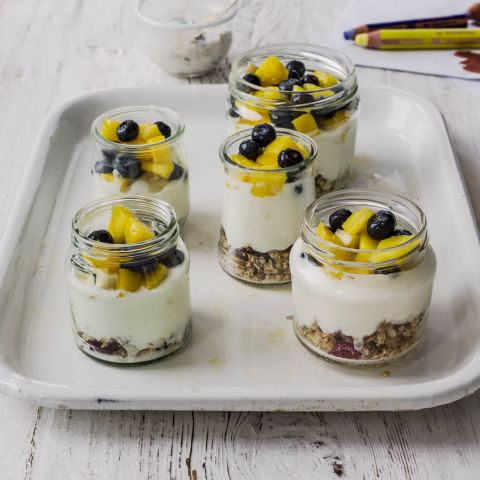Fruit yoghurt pots recipe