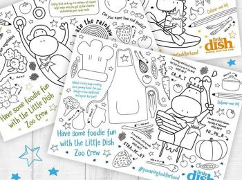 Our colouring activity sheets will keep your little ones busy and teach them about the food they're eating.