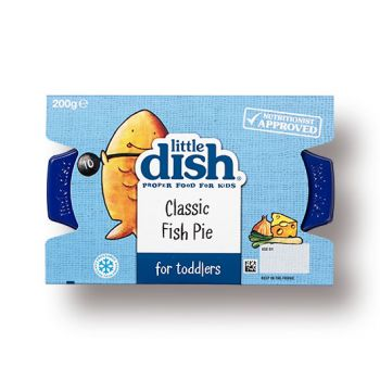 Our yummy Fish Pie is a firm favourite with little diners, and the perfect way to introduce toddlers to fish. It contains tender bite-sized pieces of salmon and pollock gently cooked in a creamy cheese and leek sauce, and topped with a smooth potato and root veg mash.