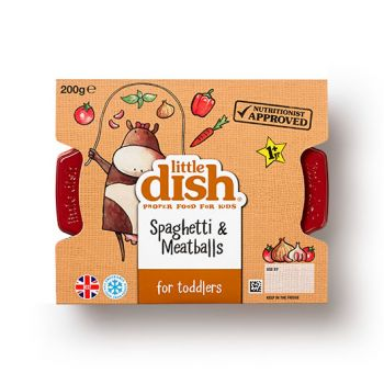 Our mini meatballs are made with only the finest British beef mince, and have a soft, melt-in-the-mouth texture, which is perfect for little ones who are learning to chew. These flavour-packed meatballs are served on short spaghetti, so they're easy to eat, with a tasty tomato sauce. This is Hillary's eldest son Monty's absolute favourite meal. He has been known to demolish a plateful in minutes…and was very specific about the recipe!